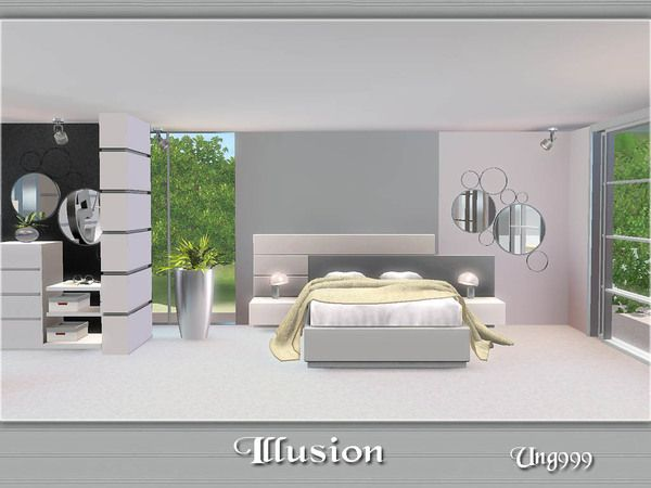 Illusion modern chic bedroom by ung999 - Sims 3 Downloads CC Caboodle