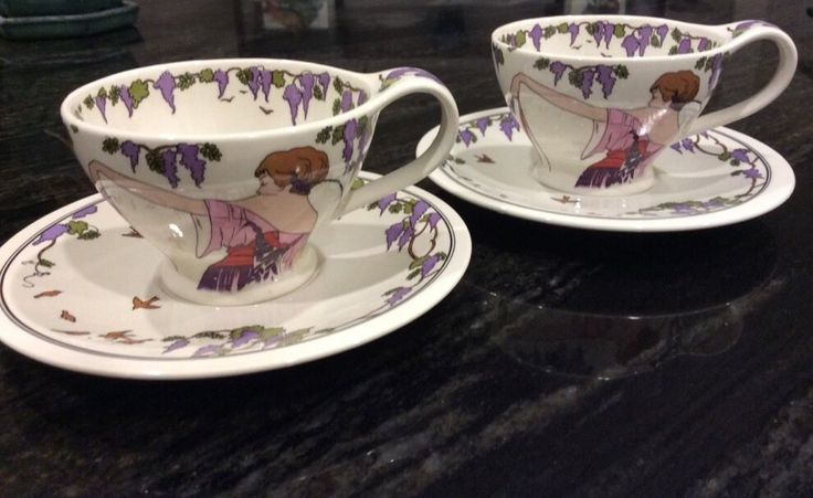 Villeroy & Boch Design 1900 DESIGN Art Deco Style Cup & Saucer, NEW, NEVER USED #VilleroyBoch - 44 dollars - buy it now