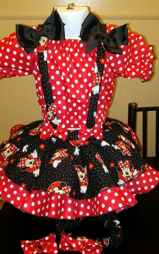 National Pageant Casual Wear OOC. Minnie Mouse 3-5t #Handmade #DressyEverydayHoliday