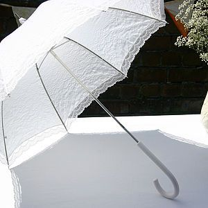 Lace Victorian Wedding Umbrella - fashion and accessories for the big day