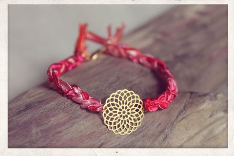 Filigree braid! With 14k gold plated charm.