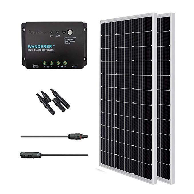 Amazon Com Renogy 200 Watts 12 Volts Monocrystalline Solar Bundle Kit W 100w Solar Panel 30a Charge C 12v Solar Panel Solar Energy Panels Best Solar Panels