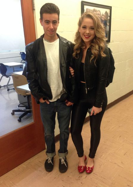 Grease Danny And Sandy Costumes Teachers also dressed up