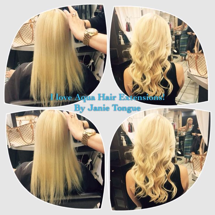 21 best hair extensions accessories images on pinterest aqua janie tongue owner of bangz park avenue salon in orlando florida shared the before and pmusecretfo Gallery