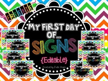 editable my first day of school sign freebie free teaching resources for k 2 classrooms and homeschool school school signs first day of school