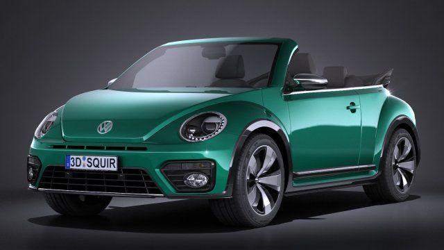 Volkswagen Beetle Cabrio 2017 3D Model .max .c4d .obj .3ds .fbx .lwo .stl @3DExport.com by SQUIR