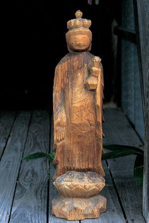朝日町大廣/子安観音堂の十一面観音(円空作) Buddha Sculpture by Enku in Koyasu Kannondo Shrine, Asahi-cho Ohiro