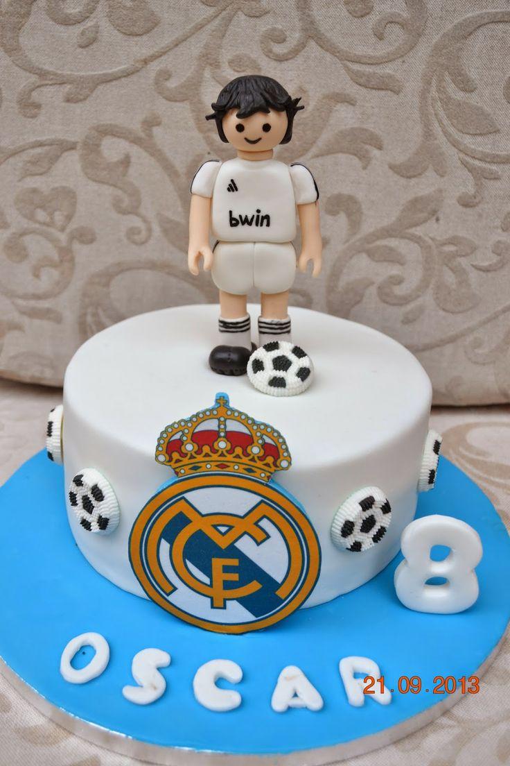 DulceMiel Cake- Reposteria creativa y tartas decoradas!!: TARTA PLAYMOBIL REAL MADRID!!!