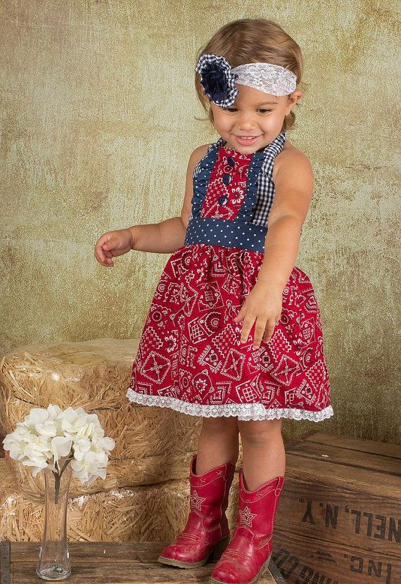Cowgirl Dress // Western Birthday //  Farm Party by SweetBClothing, $45.00