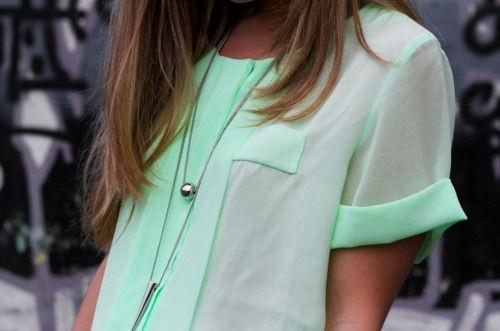 mint: Pastel, Mintgreen, Blouse, Color, Mint Green Shirts, Mint Shirts, Cute Summer Outfits, Mint Green Tops, Summer Clothing