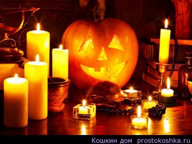Гадания на Хэллоуин Согласно древнекельтскому календарю, это последний день года. Говорили, что в этот вечер оживает вся нечисть — ведьмы, гоблины, оборотни, злые духи - и устраивает свое празднество.