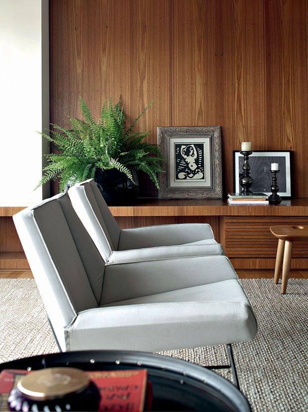 chairs + wall paneling