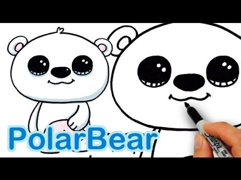 how to draw a cute bear with a heart