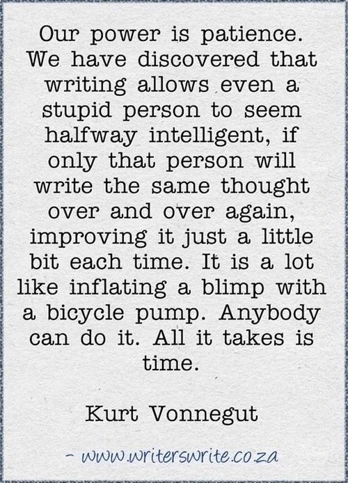 Kurt vonnegut writing advice