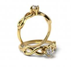 Inel de logodna cu diamant Alin din aur galben