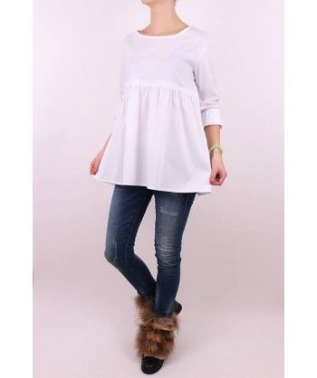 Módna biela košeľa