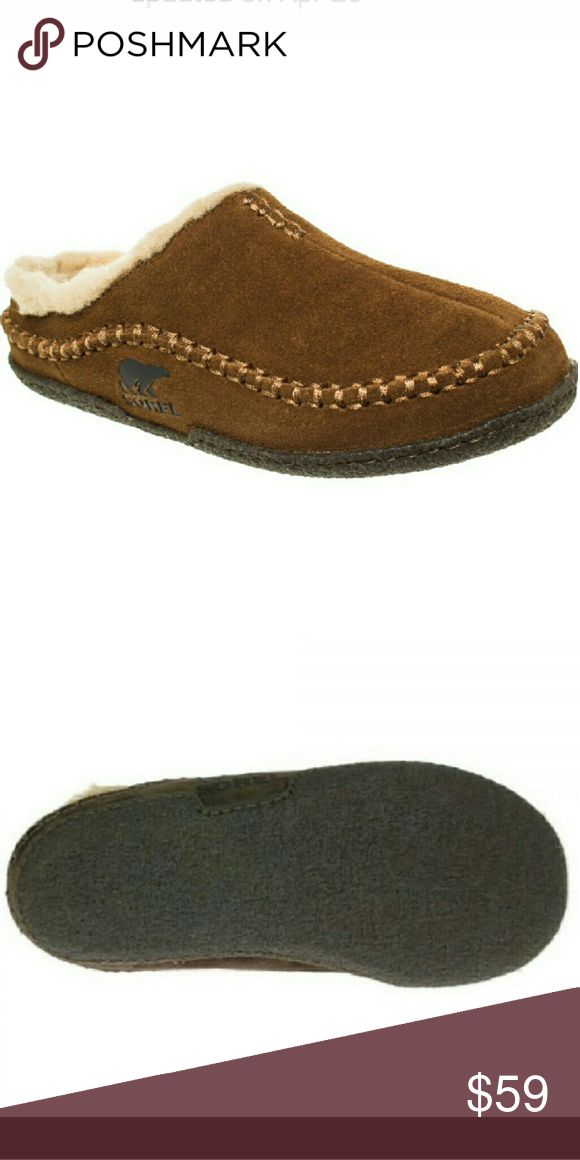 UTH SOREL SLIPPERS hard sole 089 Men size 10 in excellent condition Sorel Shoes