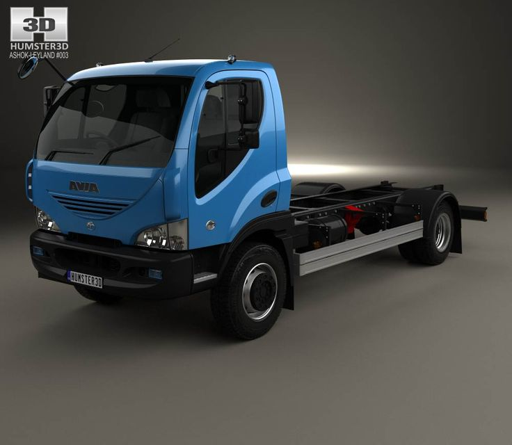 Ashok Leyland Avia D120 Chassis Truck 2006 3d model from Humster3D.com.