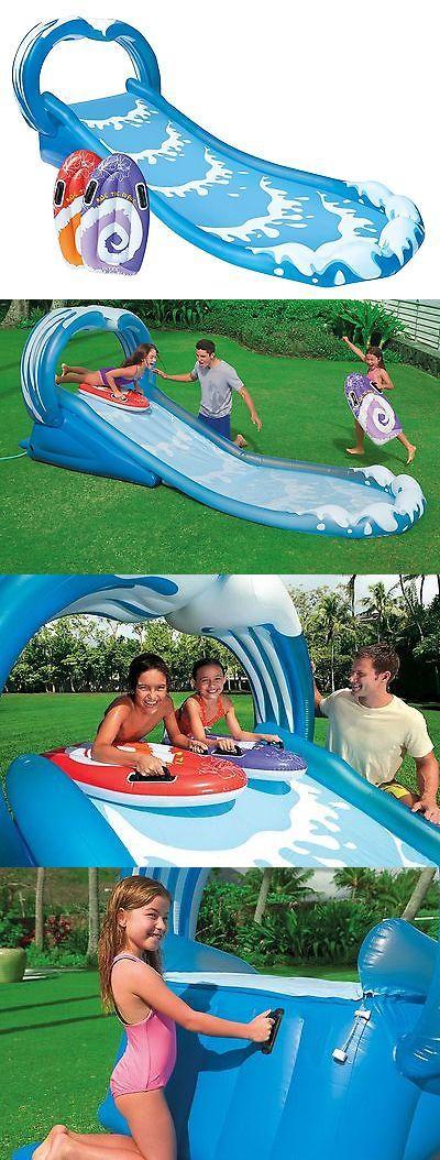 Water Slides 145992: Intex Surf N Slide Inflatable Kids Water Slide Play Center Splash Pool W Sprayer -> BUY IT NOW ONLY: $68.99 on eBay!