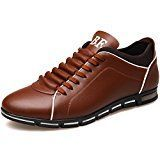 #ad Senyee Fashion Sneakers for Men, Classic Low Top Flats Lace Up Leather Work Casual Shoes  Product Specification:   Vamp Material: PU Leather  Sole Material: Rubber  Style: Fashion Closure: Lace-up Gender: Men's  Size: 9.5, 10, 10.5, 11  Color: Black, Brown  Toe Shape: Round-toe  Pattern: Solid  Season: Spring, Winter, Summer, Autumn  Occasion: Casual, Work, Dress, Cocktail, Business, office     Size:   US Size 6.5= EU Size 38= Foot Length 235-240mm (9.25-9.45inch)   US Size 7= EU..