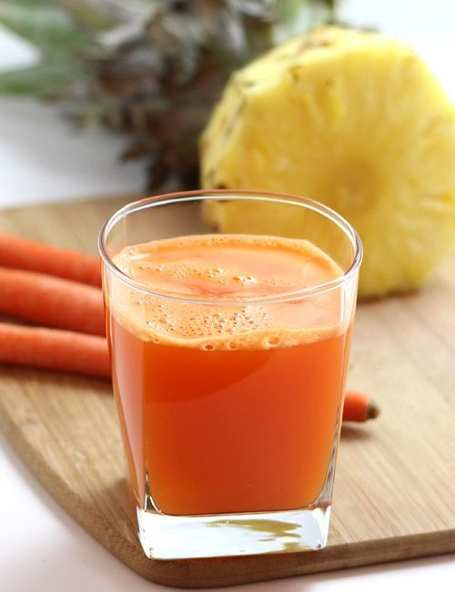 Pineapple Carrot Juice - Make Juice without a Juicer (using mixer grinder) - Recipe with Step by Step Photos