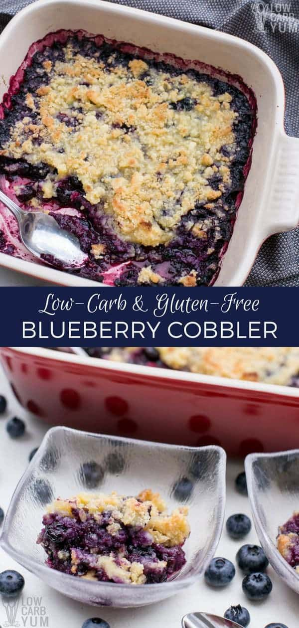 Want a delicious berry dessert? This is a really simple low carb blueberry cobbl…