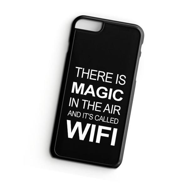 There's is Magic in The Air and It's Called Wifi iPhone 7 Plus Case   ^ Materials : Plastic, Rubber  ^ Colors : Black, White, Transparent #iPhone #iPhone7Plus #iPhoneCase #iPhone7PlusCase #phoneCase #mobileCase #ariesand #ariesandCase #geek #geekiPhoneCase