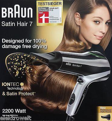 Braun HD710 solo Satin Hair 7 Haartrockner Fön Föhn HD 710 IONTEC Ionen NEU