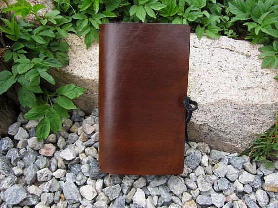 Brown Leather Standard Size Hand Dyed Traveler's