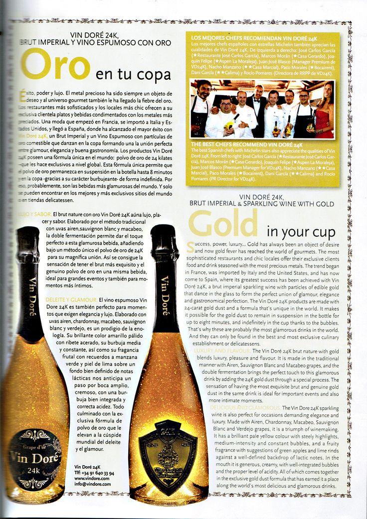 Ronda Iberia recomienda Vin Doré 24K
