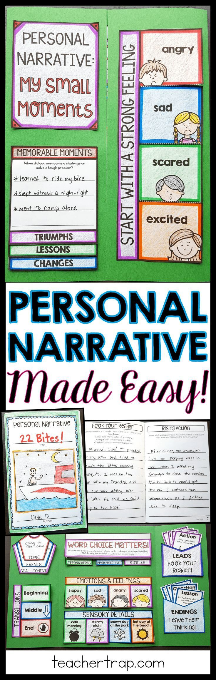 Personal narrative writing just got easier! Students create a lapbook and use the guided booklet to write their own personal narratives!