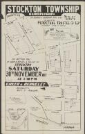 Stockton Township Subdivision : 24 business & residential sites in the Quigley Estate : for auction sale at corner of Mitchell & College Sts., Stockton, Saturday 30th November 1912 at 2.30 pm., by order of the Perpetual Trustee Co. Ltd (as trustees) Spring St. Sydney / Creer & Berkeley, auctioneers, Wolfe Street Newcastle