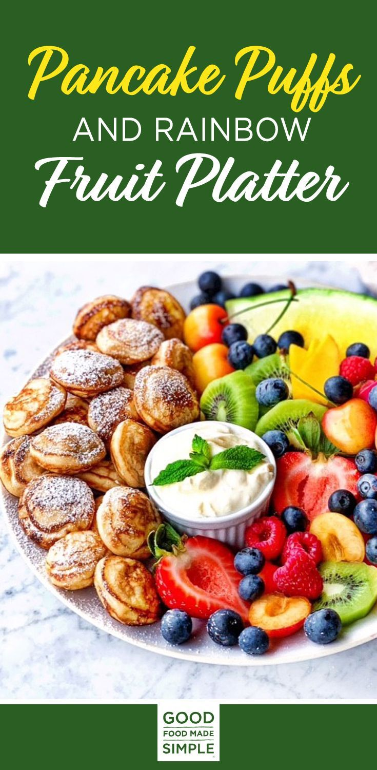 Jun 23, 2020 – Pancake Puffs and Rainbow Fruit Platters aren't just colorful, they're healthy too! These colorful mini p…