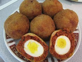 Afghan Kitchen Recipes: Nergis Kabob (Meatballs Stuffed With Egg)
