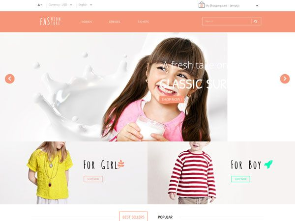 Pts Fashion Kid PrestaShop Theme