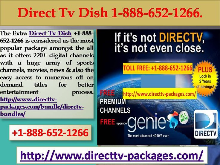 The available package options include Direct Tv Dish +1