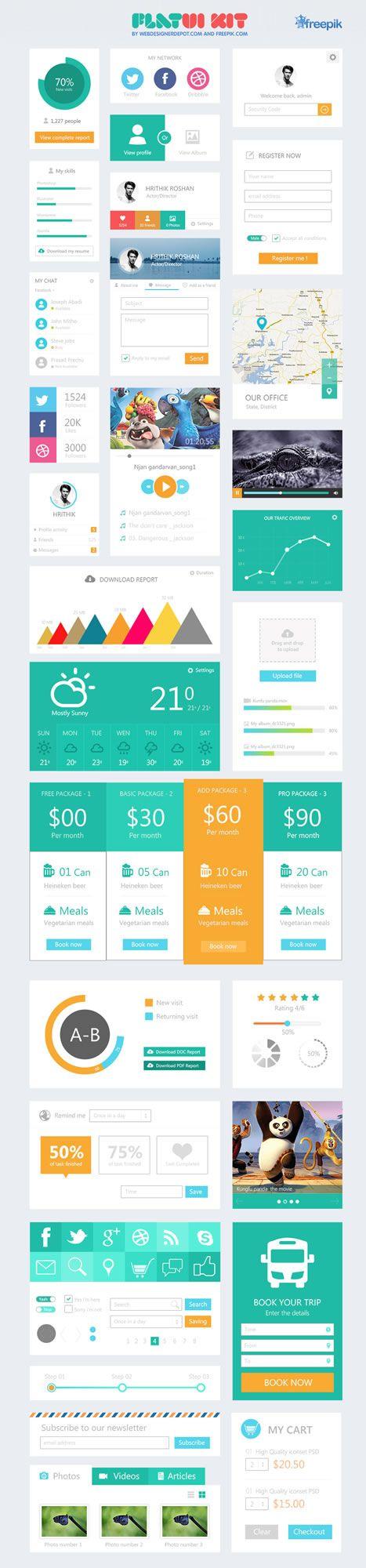 Cut out the fake shine and make a good UI.  10 Free Flat UI Kits