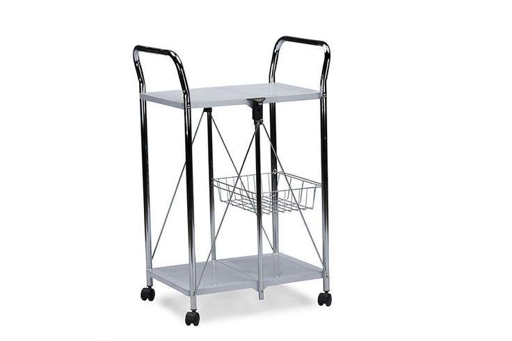 Watkins Steel Foldable Serving Trolley Cart