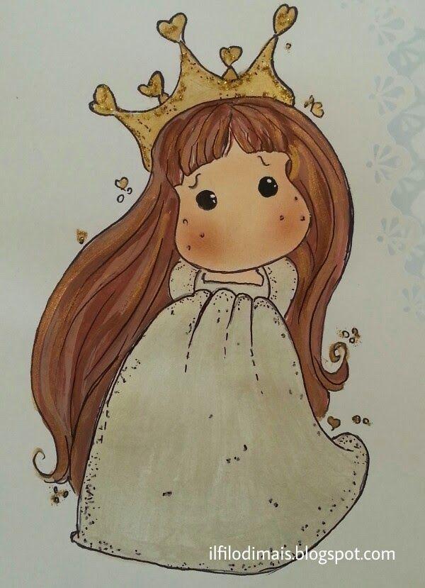 #primacomunione #principessa #tilda #dipintoamano http://ilfilodimais.blogspot.it/2015/04/un-biglietto-per-la-prima-comunione.html