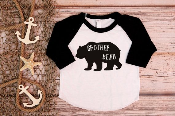 Großer Bruder Shirt; Brother Bear Tee; Ankündigung; Baby Ankündigung; Neues Baby; Ankündigung-Shirt; Bärenbrüder; Geschwister-Shirt; Kleiner Bruder; auf Etsy, $16.95
