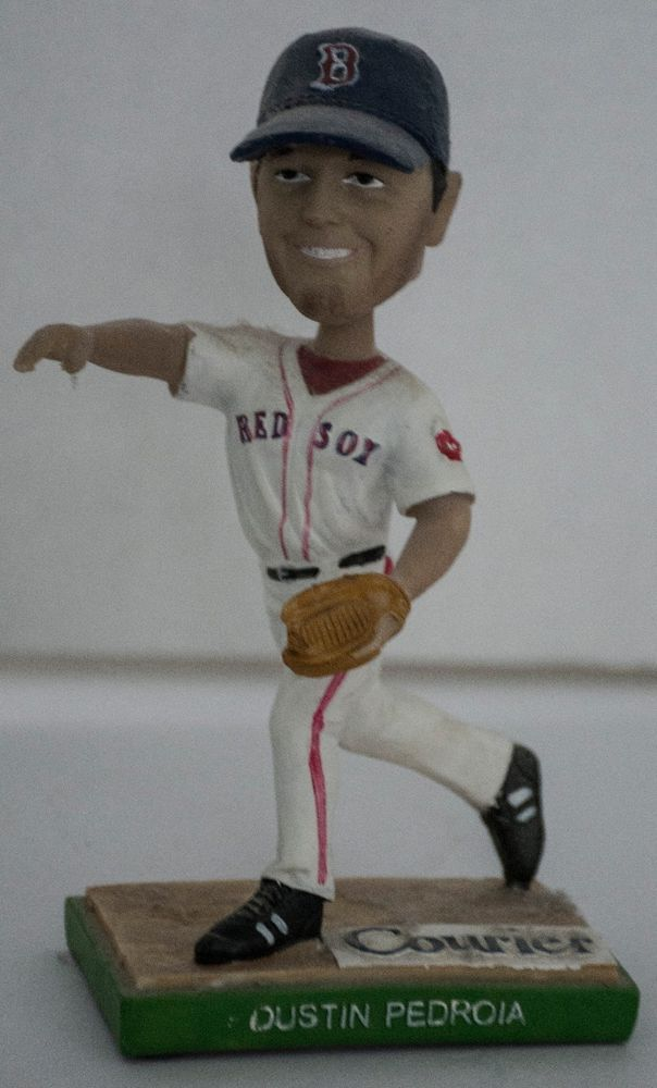 DUSTIN PEDROIA LOWELL SPINNERS BOSTON RED SOX BOBBLEHEAD 2007 AL ROOKIE #LowellSpiners