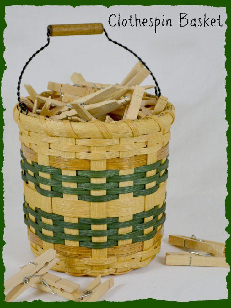 """Chloe"" Clothespin Basket"
