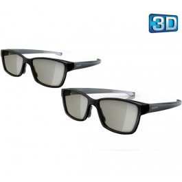 PTA436 3D Passive TV glasses - black  + SurgeStrip E-Series - surge suppressor