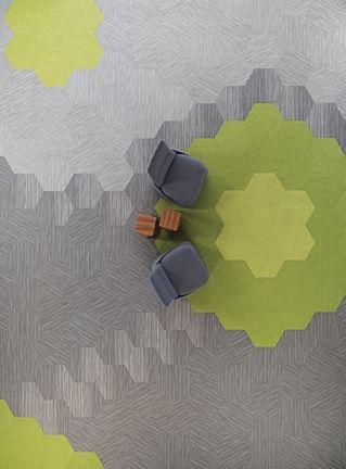 Coalesse Hosu and Shaw Contract Hexagon tile