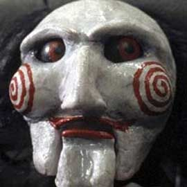 The scariest mask of all time. Saw reopens in theaters October 30-31 to celebrate the 10 year anniversary of Saw