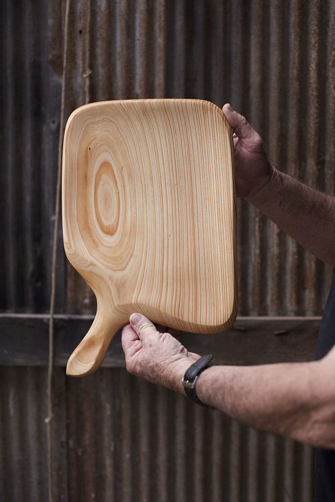 280. Handmade Wooden Platter, Serving Board, Cutting Board out of Cypress Wood by Lin Babb of Linwood