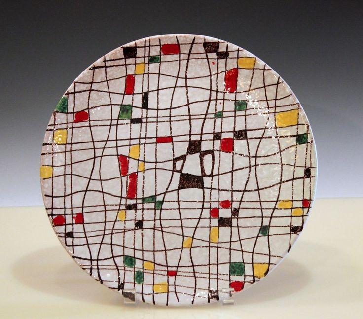 "Big Italian Pottery MCM Raymor Mondrian Modern Art Bitossi FF Charger Plate 12""  #BitossiFanciullacci #Mondrian"