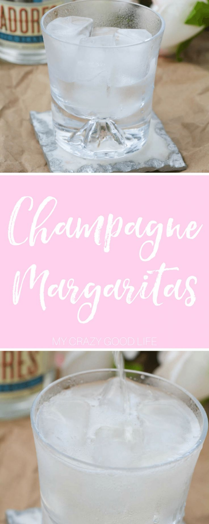 When I want something light, delicious, and a little more sophisticated I go for this champagne margaritas recipe! It's bubbly and festive! Champagne Margaritas | Champagne Margarita Recipes | Margarita Recipes with Champagne | Champagne Cocktails | Holid