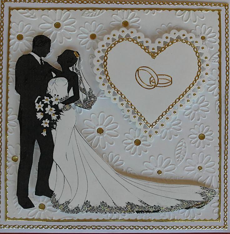 Оформить открытку со свадьбой, красивого