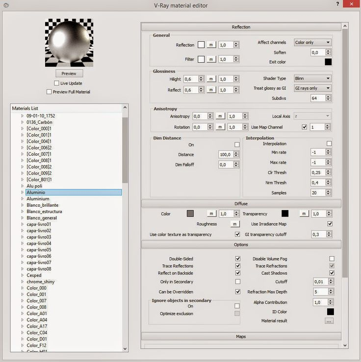 Chrome / Read more here http://www.archi2o.tk/2015/04/sketchup-tutorial-vismat-vray-setting.html
